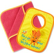 Kids Towel Pink, Toddler Bib and Cloth Promise